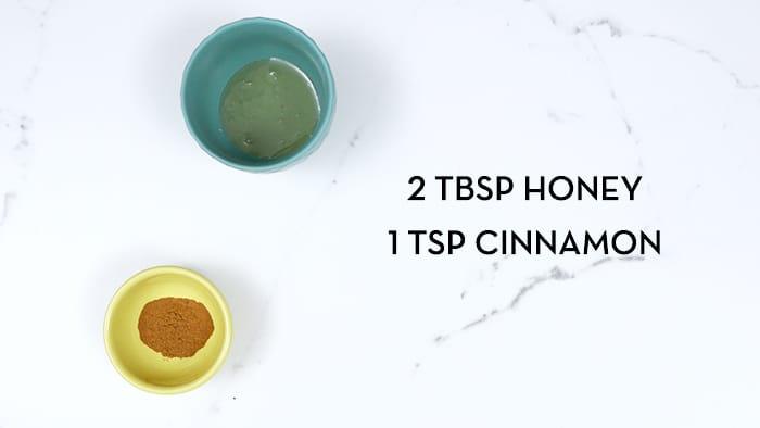 2 Tbsp Honey & 1 Tsp Cinnamon Face Mask Ingredients