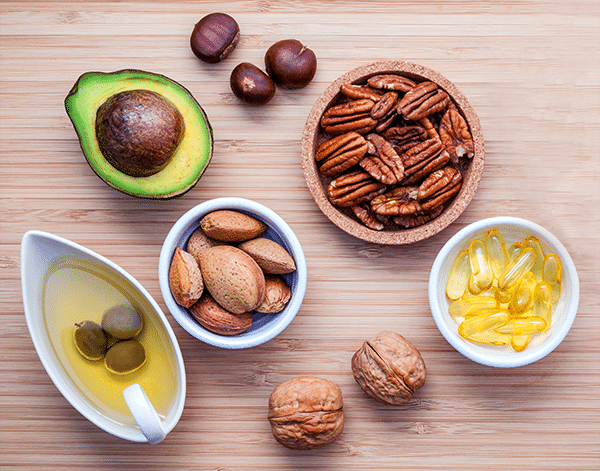 Healthy Fats - Avocado Nuts Fish Oil - The Wellnest by HUM Nutrition
