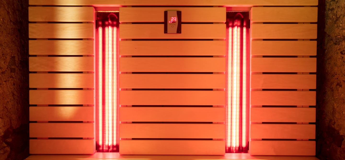 Infrared sauna chamber for detox and wellness