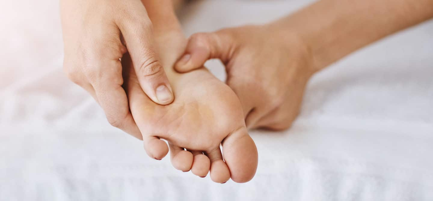 Pressure point on the foot for stress releif
