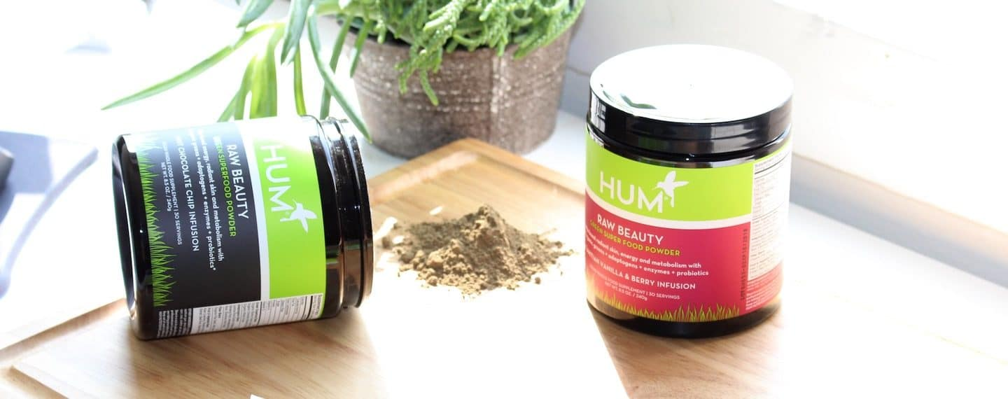 HUM Raw Beauty tubs to make a variety of recipes