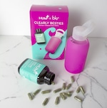 Clearly Besties box with HUM Daily Cleanse and bkr water bottle