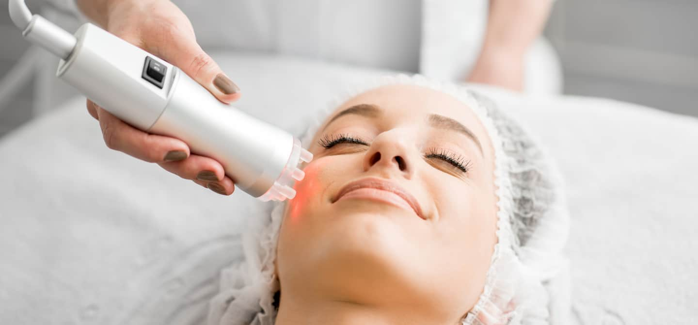 Woman getting Laser and light Therapy Facial at Skin Laundry