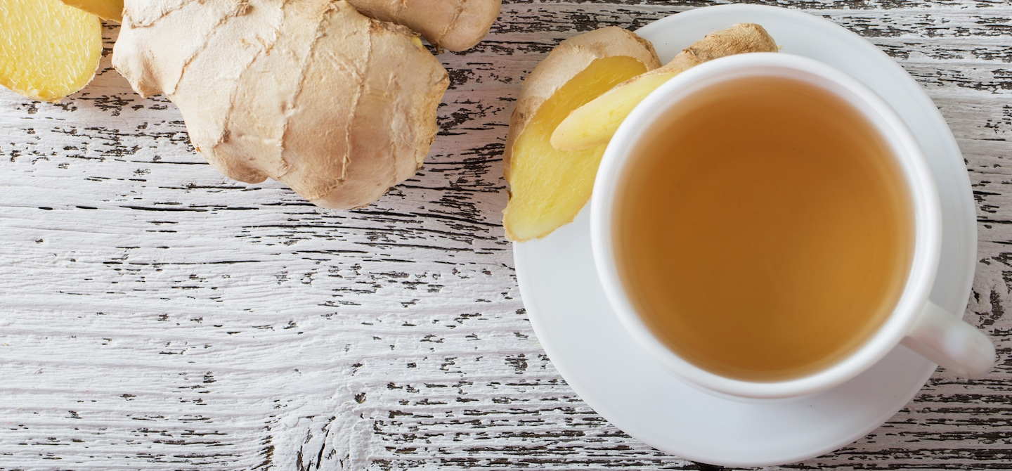 Ginger lemon tea as a natural remedy for an upset stomach
