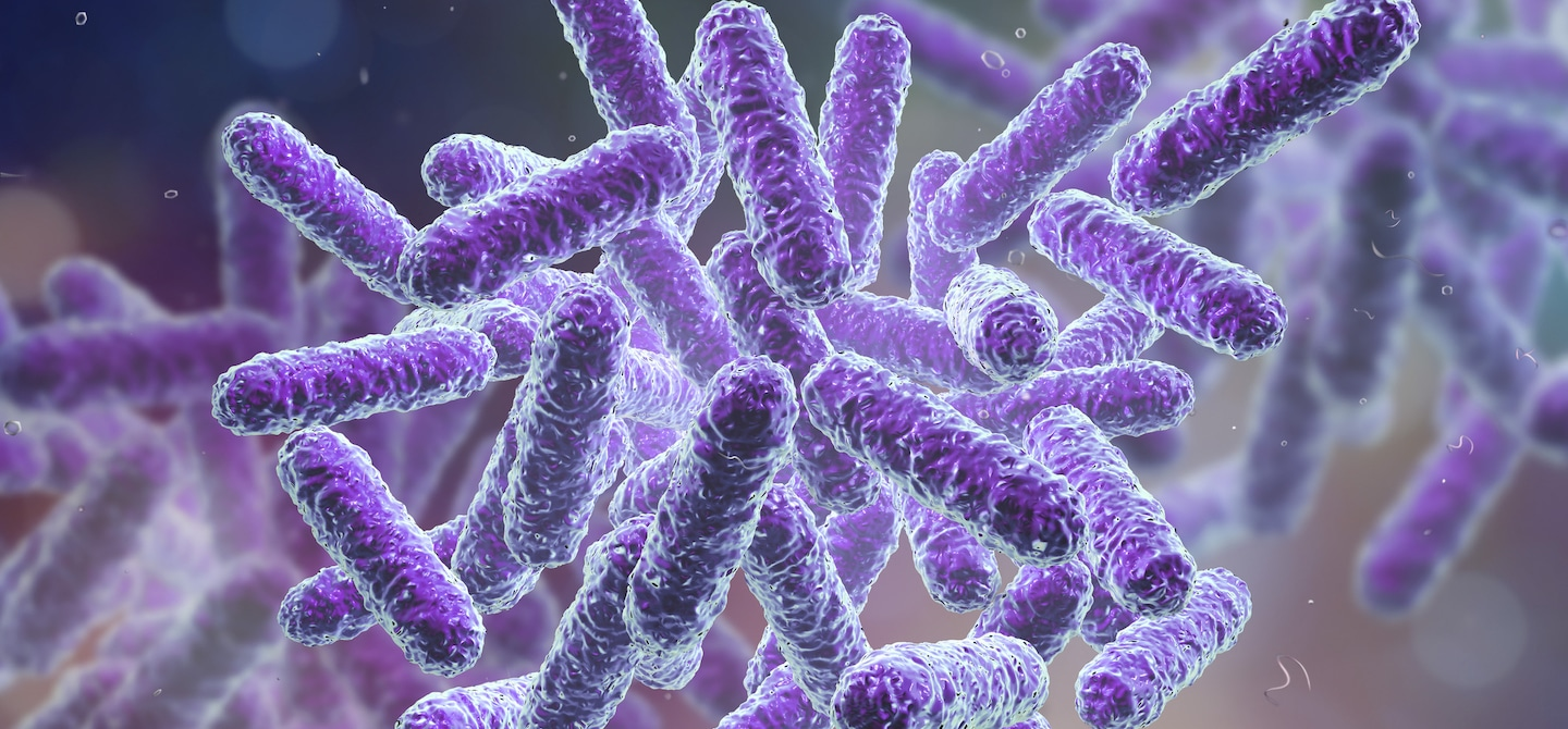 Purple microbiome particles