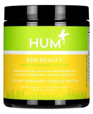 HUM Nutrition Raw Beauty Tropical Green Superfood Powder