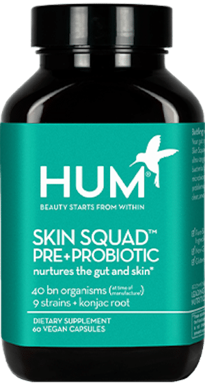 HUM Nutrition Skin Squad pre+probiotic for clear, smooth and even skin tone