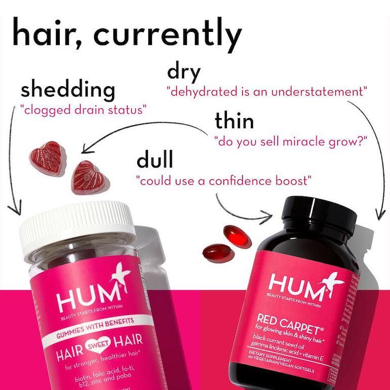 Comparing HUM Hair Vitamins