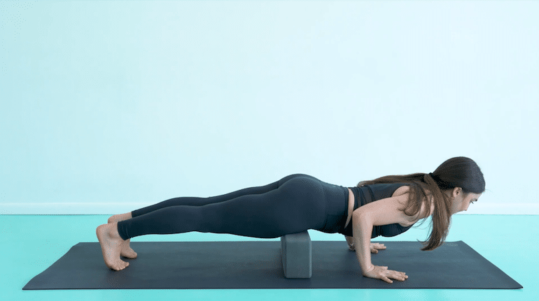 Chaturanga with Blocks - The Wellnest by HUM Nutrition