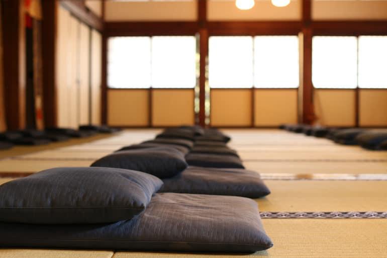 Silent Meditation Retreat Cushions | The Wellnest for HUM Nutrition