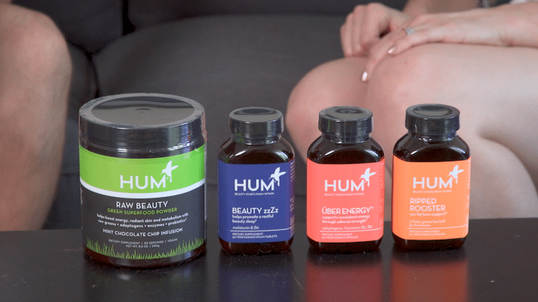 Selection of HUM Supplements chosen for a registered dietitian's client.