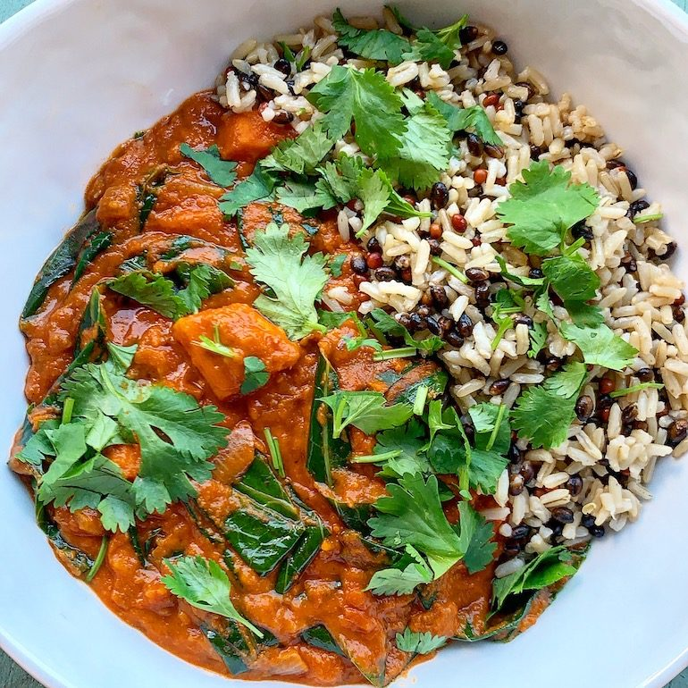 West African Peanut Stew with rice medley