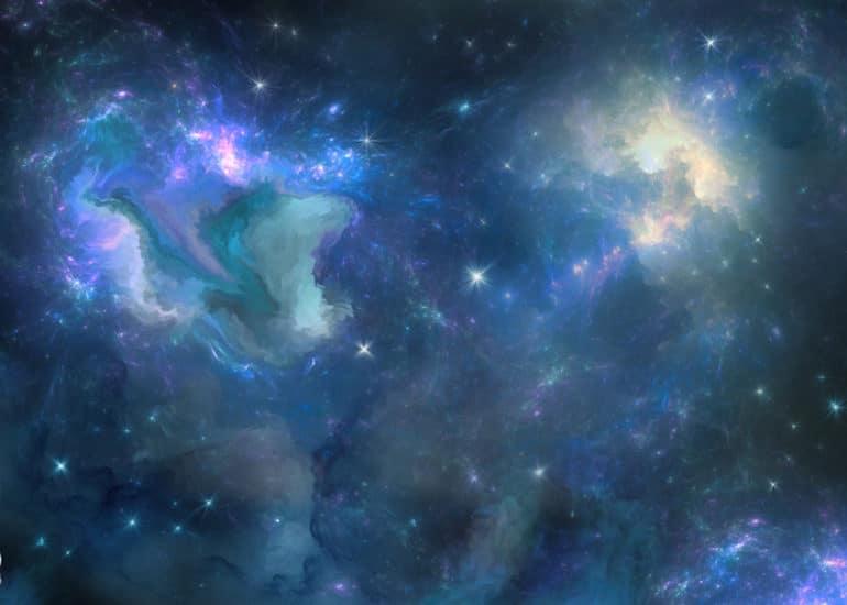 Dreamy celestial sky