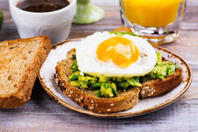 Eggs and Avocado Toast for an Easy Healthy Breakfast