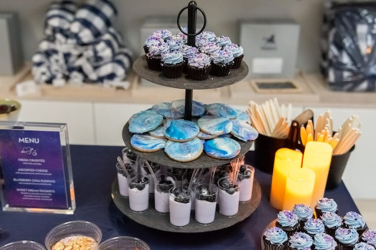 Galactic Cookies and Blue Purple Desserts by Taste of Pace