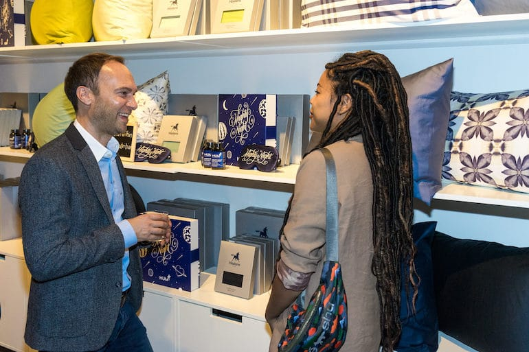 HUM CEO Walter Faulstroh at Mighty Night launch at Hastens