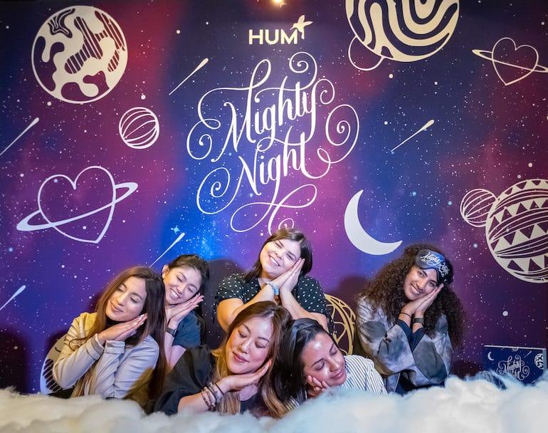 Team HUM on Mighty Night cloud
