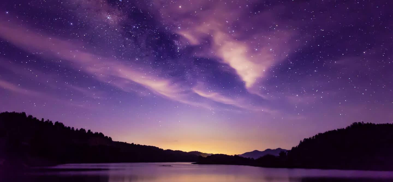 Purple and orange celestial sky