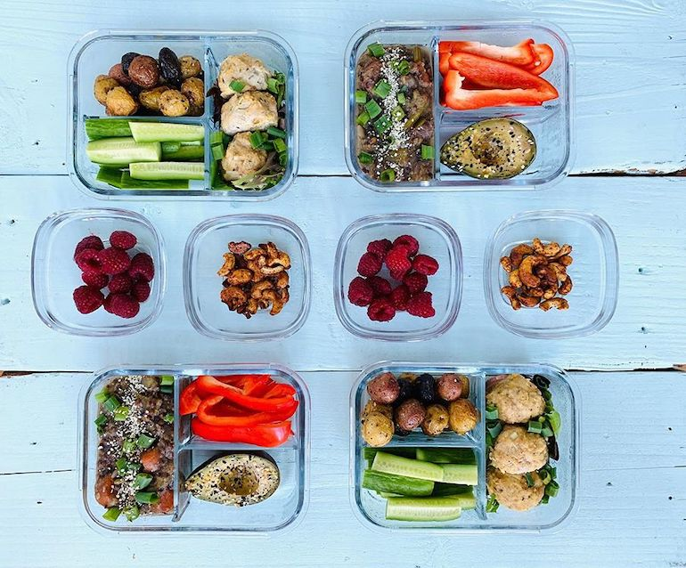 Meal Prep of Dietitian's Meals | The Wellnest by HUM Nutrition