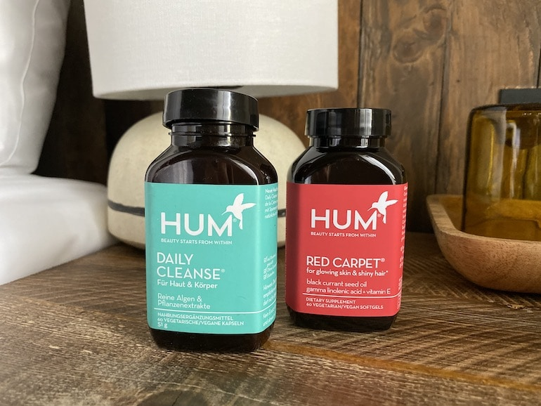 HUM Nutrition supplements, Daily Cleanse and Red Carpet