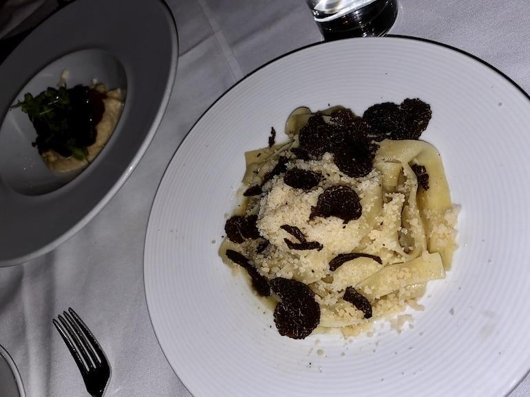 Vegan truffle pasta by Sofia Tsakiridou