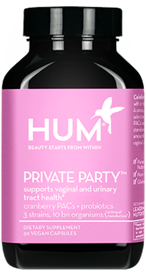 HUM Nutrition Private Party women's probiotic for vaginal and urinary tract health