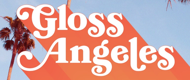 Gloss Angeles podcast logo with palm trees
