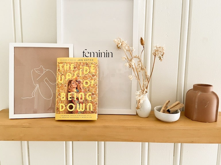 The Upside of Being Down book by Jen Gotch on mental health