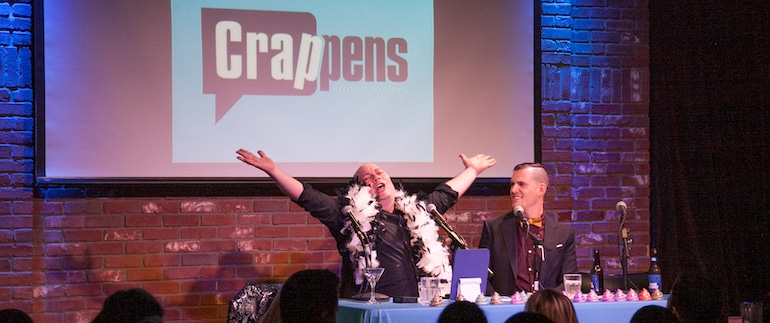 Watch What Crappens live podcast