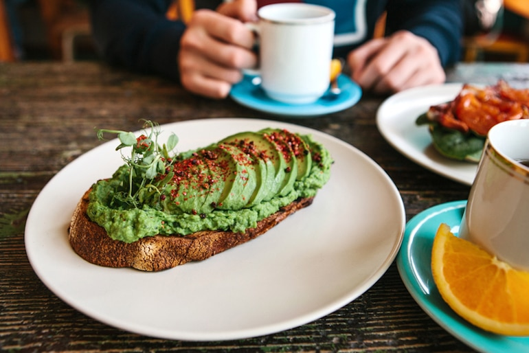Avocado toast as an example of a healthy fat to eat