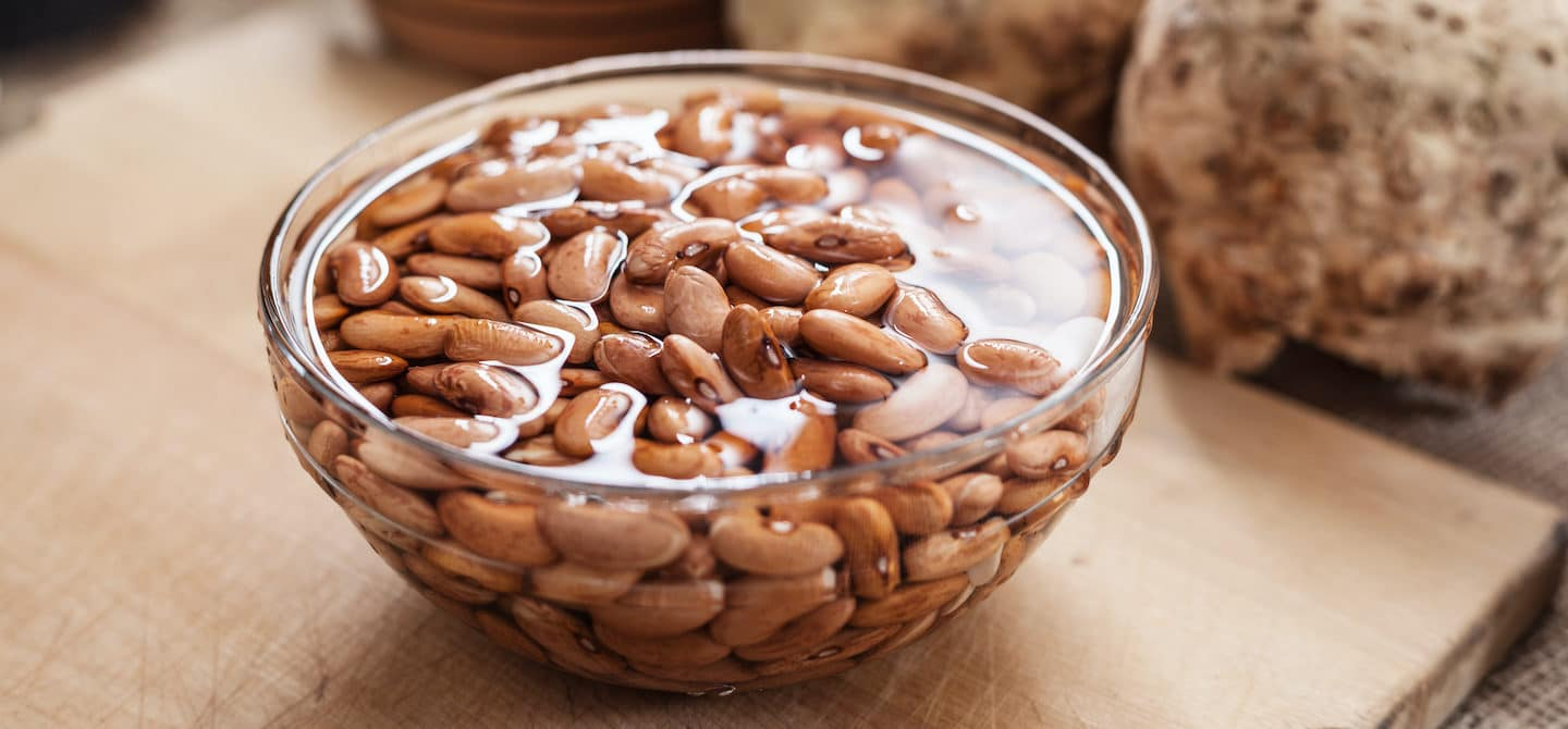 Soak beans in water to improve digestion