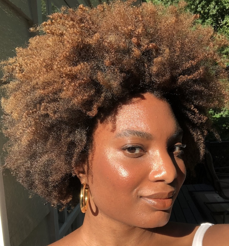Showing off the results from the best way to dry natural hair for volume