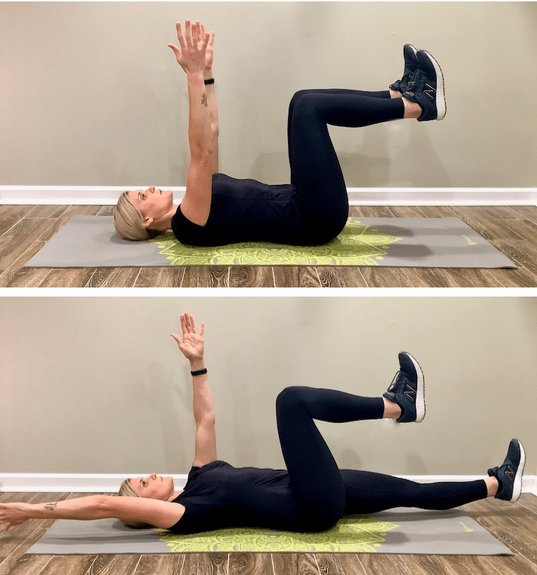 Dead Bug Switch Ab Workout