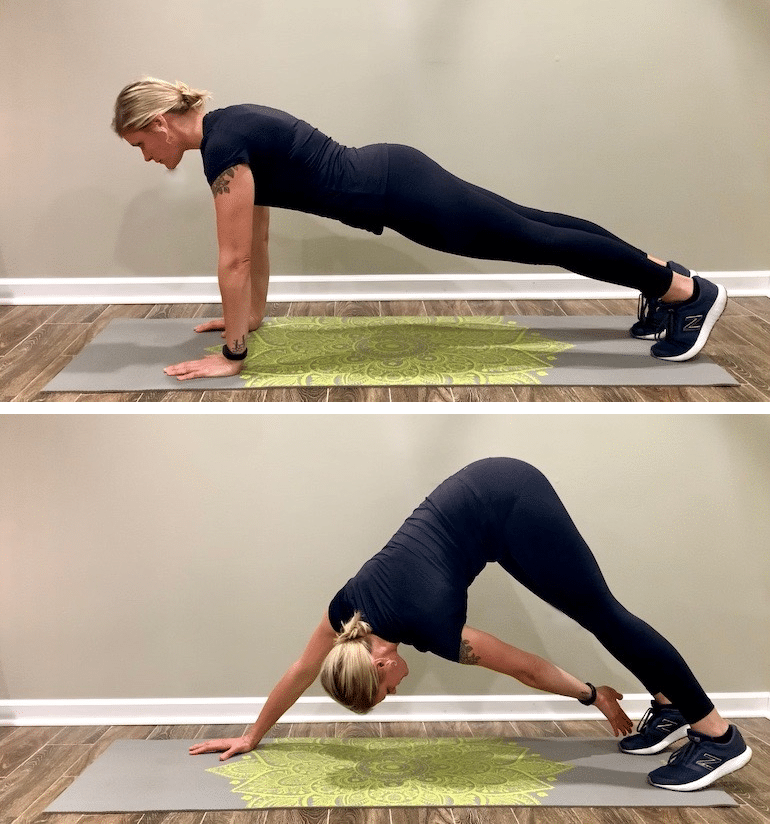 Plank toe touch workout, one of the best ab exercises