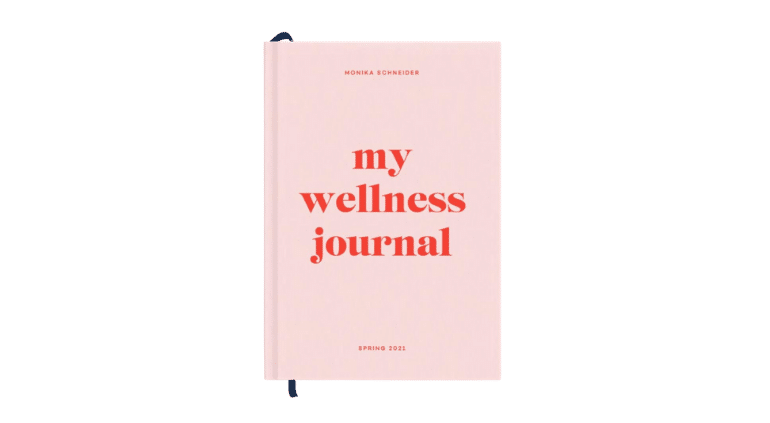 Papier Joy Wellness Journal in pink and red