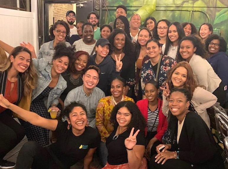 BIPOC aspiring dietitians celebrating at Diversity Dietetics event