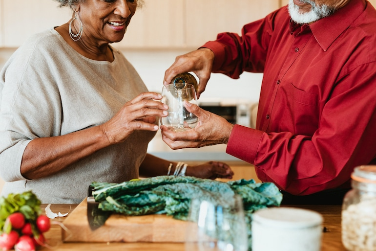 Pouring water and eating kale for liver health