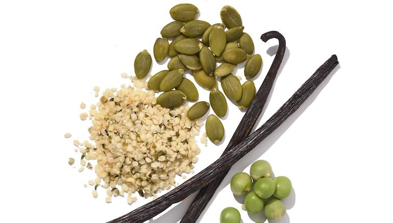 Vegan plant protein ingredients in HUM Core Strength low FODMAP protein powder
