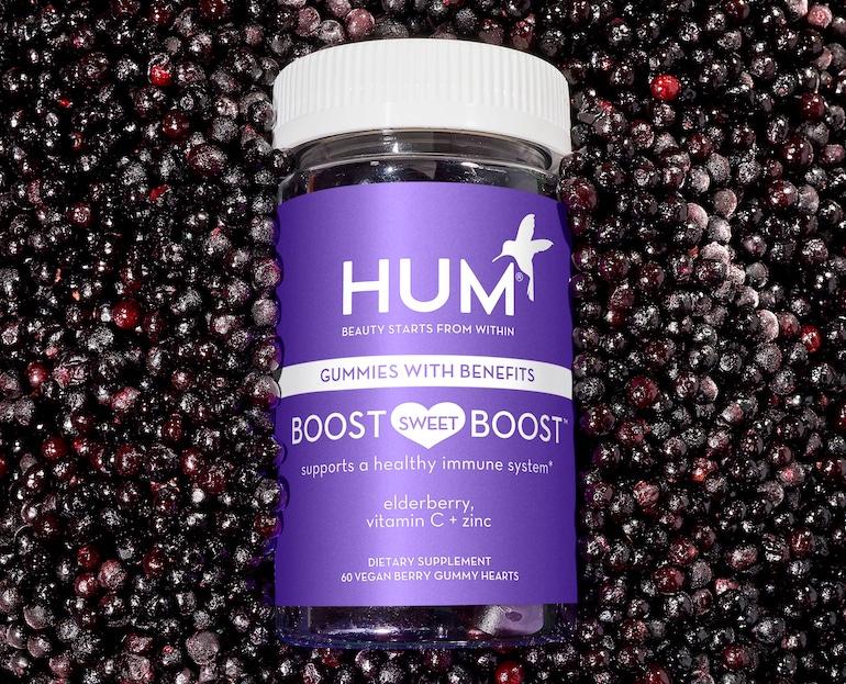 HUM Boost Suplemento de gomitas de saúco vegano Sweet Boost