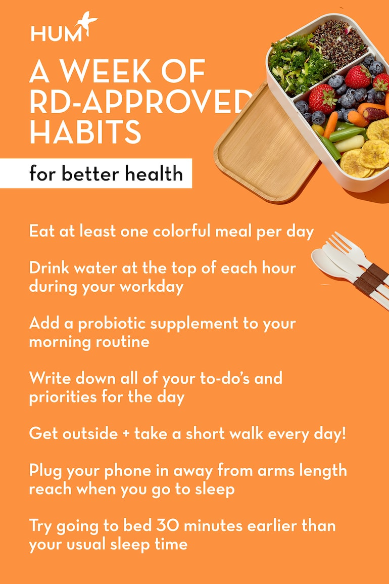 Infographic of microhabits to support immunity and better health