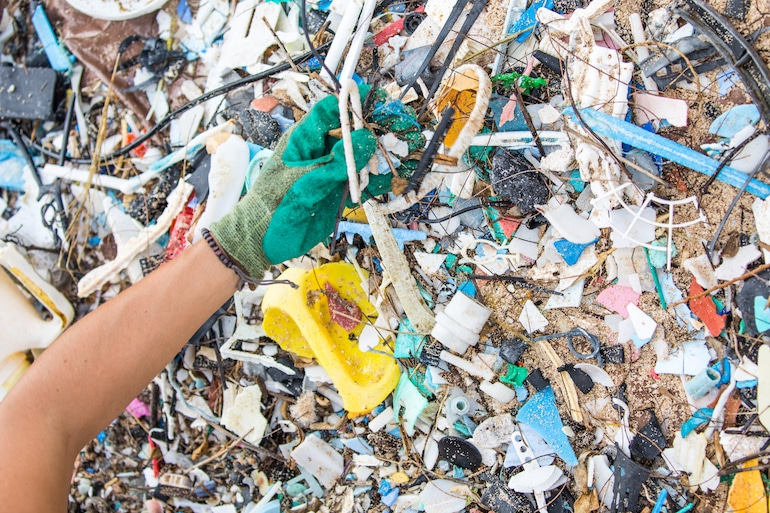 Microplastic pollution on a Surfrider beach cleanup