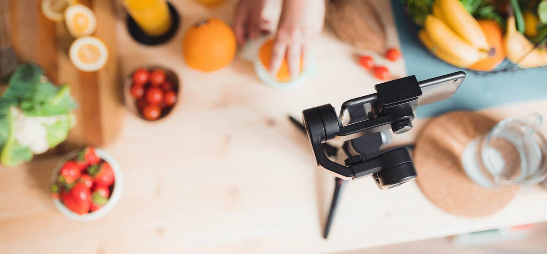 In the kitchen filming TikTok food trends