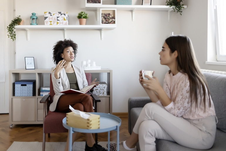 woman at a therapy session